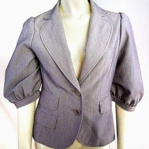 BCBGMaxAzria Posh Gray Blazer Jacket XS